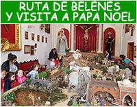 Ruta de belenes y visita a Papa Noel