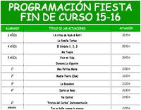 Programación Fiesta Fin de Curso 2015-2016
