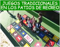 Juegos tradicionales en los patios del colegio